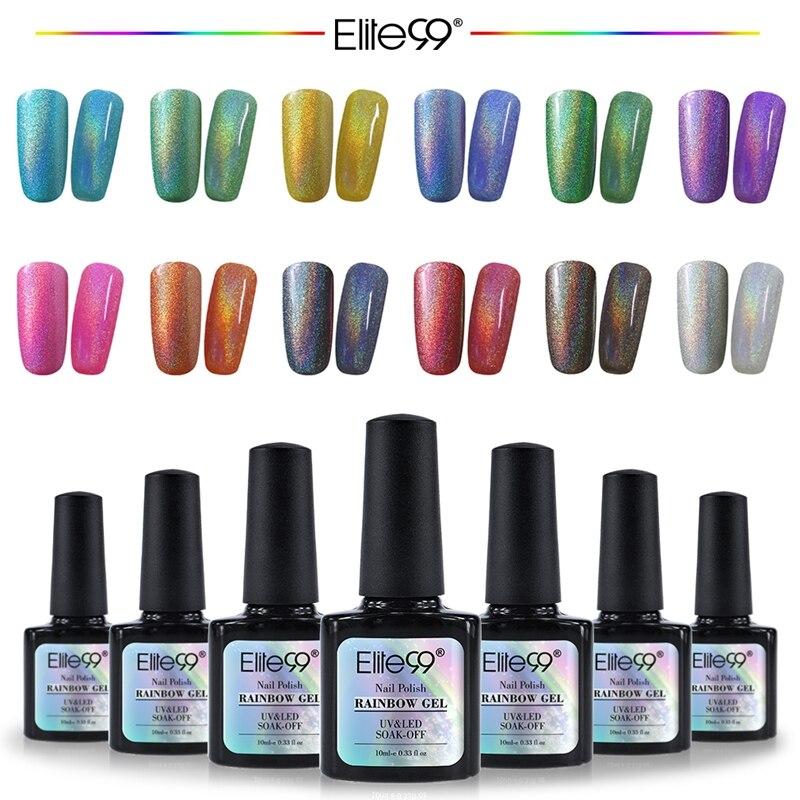 Best Gel Nails Set: Elite99 Colorful Rainbow UV Gel Nail Polish Nail Art UV