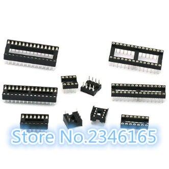 10 unids/lote socket DIP socket IC chip base directamente en la base de la 6pin 8pin 14pin 16pin 18pin 20pin 24pin 28pin tomas soket