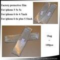 1000 unids/lote protector de pantalla fábrica de renovación de película protecter para el iphone 5 5s 5c/6 6 s/6 p 6sp/7/7 p parte delantera y trasera
