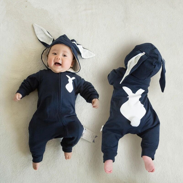 Bunny baby clothes fashion baby costume newborn long sleeve rompers hot baby costume halloween