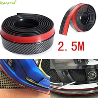2 5M Universal Carbon Fiber Front Bumper Lip Splitter Chin Spoiler Body Trim 8ft Sep5