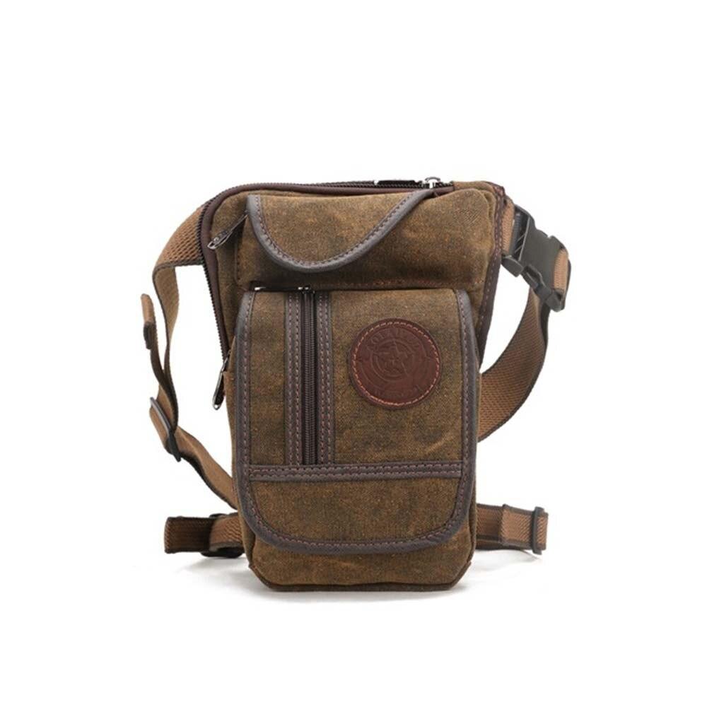 Mens retro riding leg bag multi-function bag rest wear canvas pocketsMens retro riding leg bag multi-function bag rest wear canvas pockets