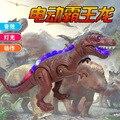 Simulação elétrica Tiranossauro Irá Mover Tiranossauro Velociraptor 37x23 cm Piscando Som Dinossauro do Jurássico Modelo Brinquedos Do Menino