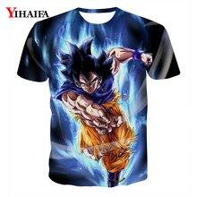 Men T shirt 3D Print Graphic Tee Goku Super Saiyan Dragon Ball Z Anime Cartoon Casual Tees Shirts Summer Tops