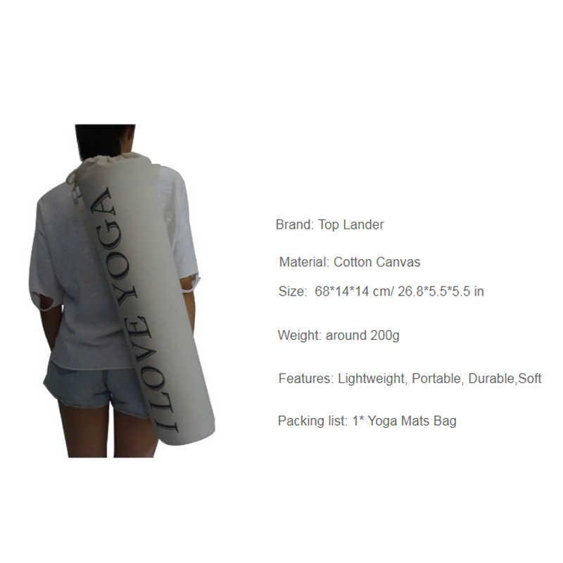Grube torba na matę do jogi płótno bawełniane przewoźnik torba na ramię torba na matę do jogi lekka trwała plecak siłownia Pilates maty do jogi torby na