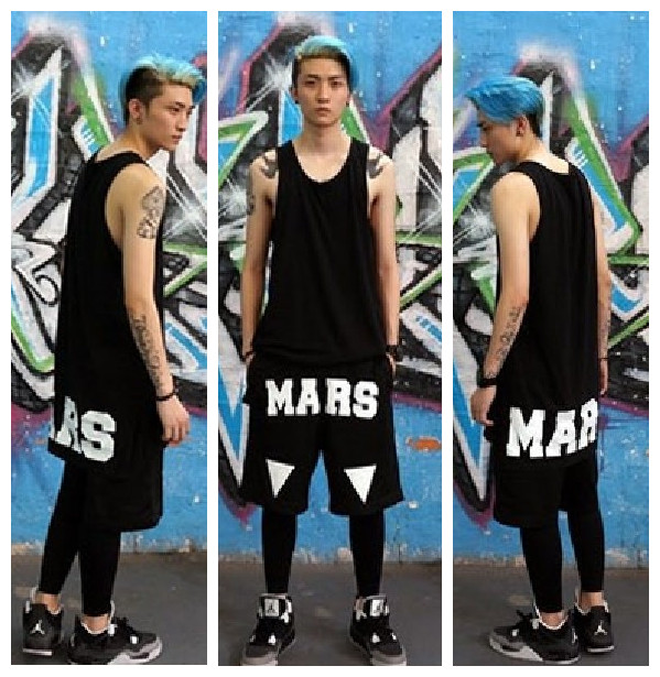 Fashion Man Swags Extra Long Mens Tshirts Loose Popular Longline Design Cotton Teenage Boy Black