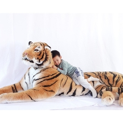 Dorimytrader Simulación Dominante Animal Tigre Juguete de peluche Grande Increíble Colección realista de tigres Accesorios de fotografía Inicio