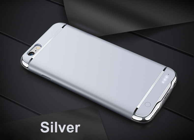 New Rechargeable External Backup Battery Case For iPhone 6 7 Plus Power Bank Case Cover for