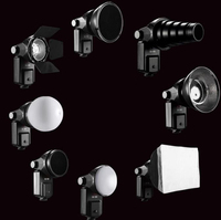 9 In 1 Flash Accessory Kit Reflector Softbox Honeycomb Snoot Diffuse Sphere Universal Mount Adapter For