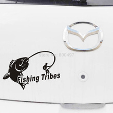Fishing Tribes Funny Car Sticker Auto PVC Decal Car Accessories Sticker for Tesla ToyotaChevrolet Volkswagen Hyundai Kia Lada