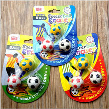 3pcs Student stationery Office Supplies lovely Smiling face Football Creative expression Eraser