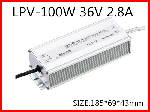 100W 36V 2.8A Single Output Switching power supply for LED Strip light