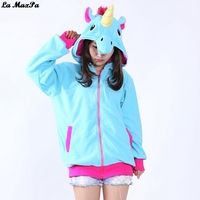 3 Colors Animal Hoodies Cosplay Costumes Blue Pink Purple Unicorn Hoody Mens And Cartoon Anime Womens