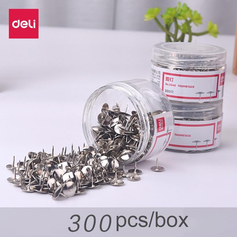 Deli thumb tack pushpin copy nail small pins round toe nail decoration deli 0040 metal thumb tack