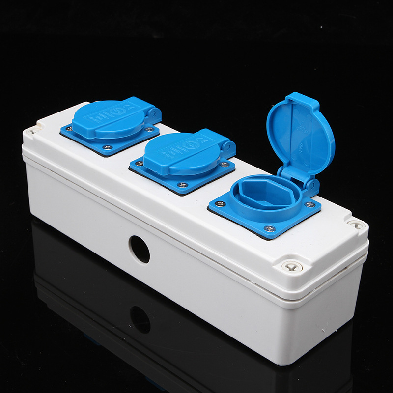 Switzerland Power Socket 3 Swiss sockets IP44 Waterproof Dustproof Socket Wall Switch Socket With the Waterproof Cover in Extension Socket from Consumer Electronics