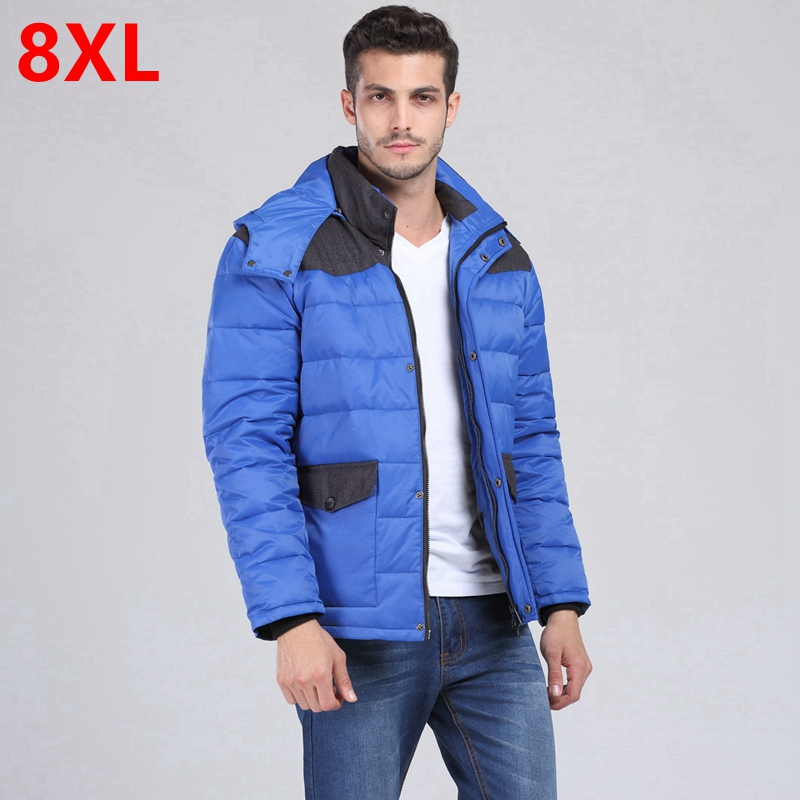 male fashionable casual stand collar plus size   down     coat   fat New Mens fat XL Jacket XXL   down   jacket winter jacket 160cm bust 8XL