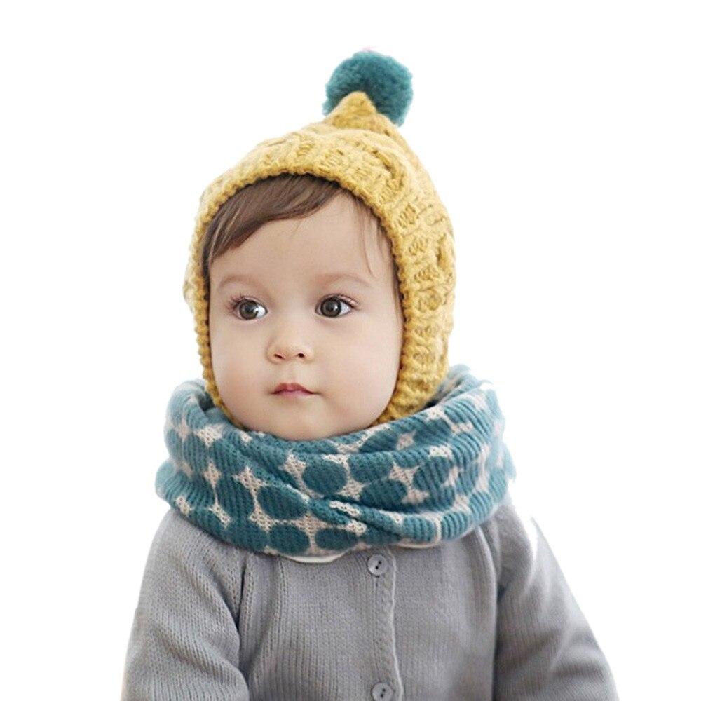 1 Stück Herbst Winter Jungen Mädchen Druck Kragen Baby Schal Strick O Ring Neck Schals
