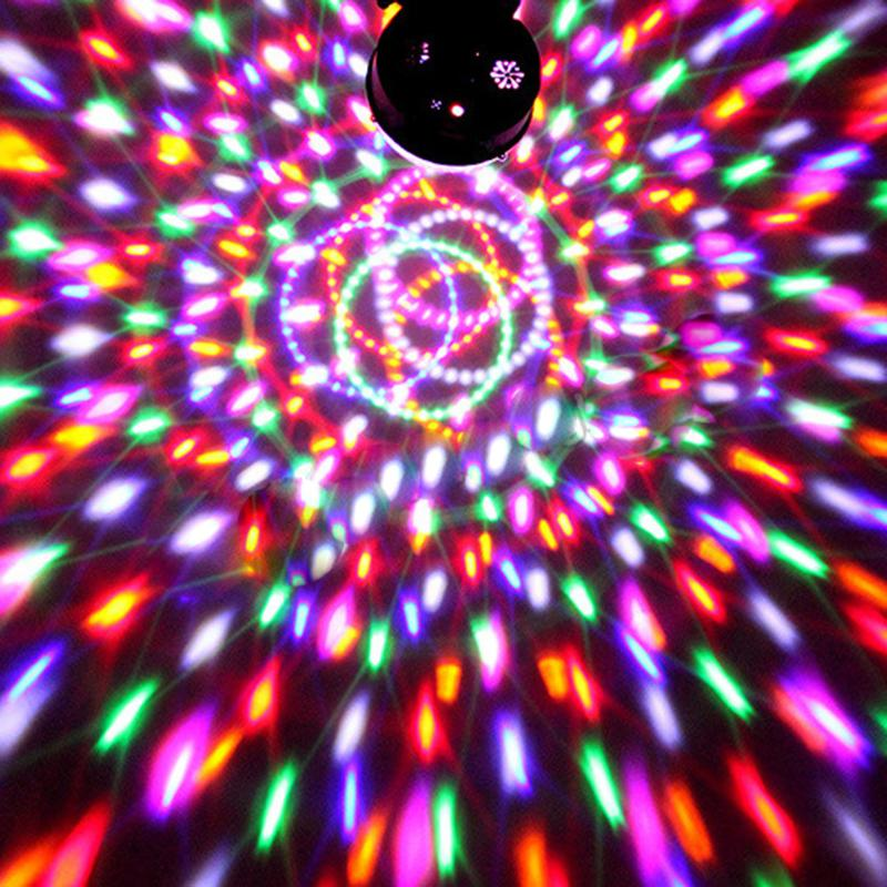 Voice Control Holiday Laser Projector Stage Light MP3 IR Remote Digital RGB LED Crystal Magic Ball Mini Disco DJ Club Bar Light