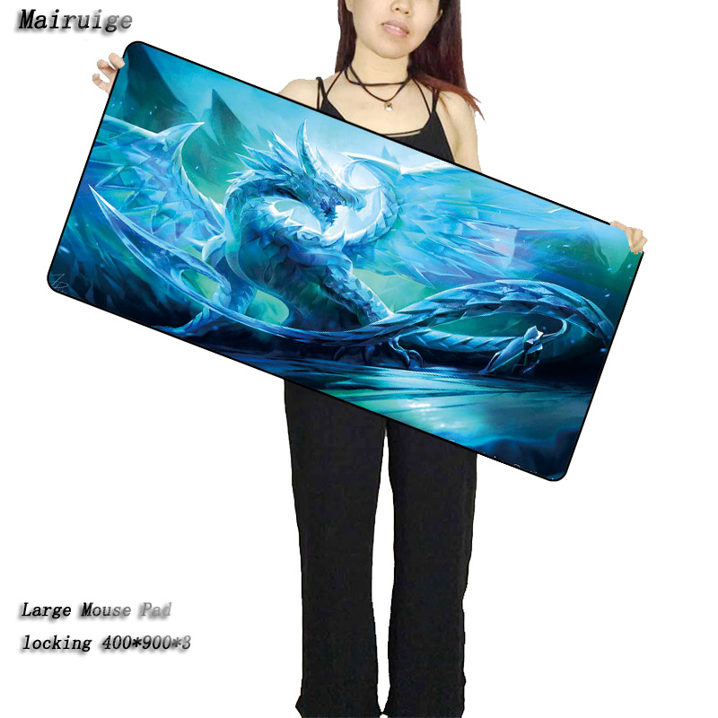Mairuige Free Design Crystal Dragon Large Gaming Mouse Pad Locking Edge Speed Version Keyboard Mat Table Mat for Dota 2 CS Go ...