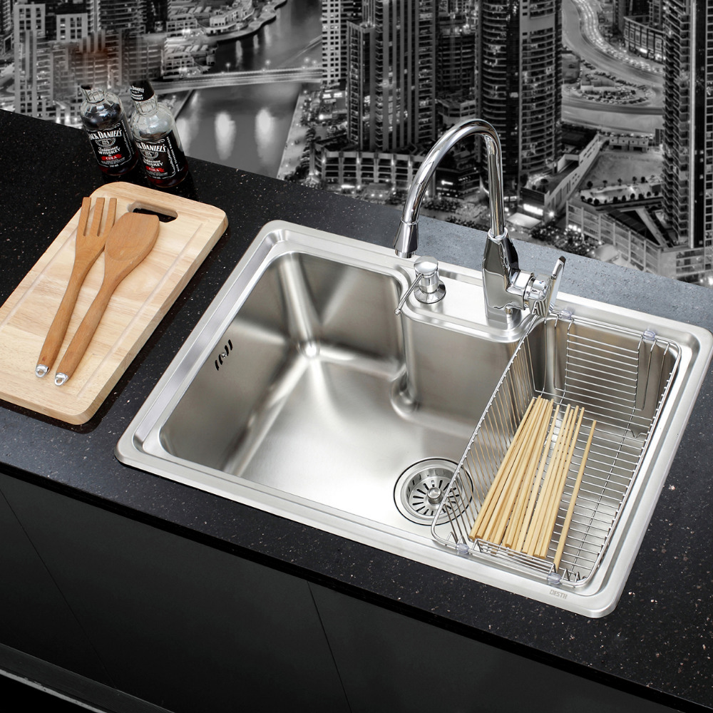 SUS 304 Stainless Steel Nickel Brushed Undermount Kitchen Sink Set With Solid Brass Pull out Faucet Wooden Chopboard Spoon fork cntang summer embroidery letter w baseball cap fashion cotton snapback for men women trucker hat unisex casual caps gorras