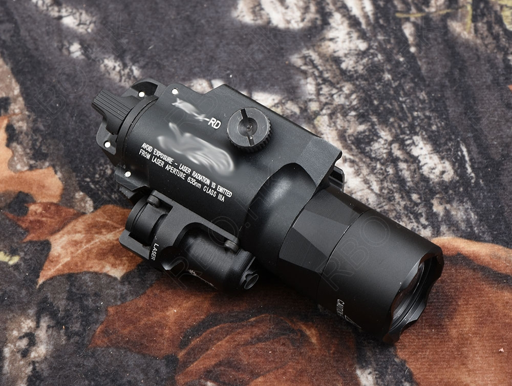 tactical Weapon gun lamp light for glock and picatinny rail base hunting shooting  Aluminum alloy cutting X 400 BLACK M7155 tactical light led weapon light picatinny rail mount shooting hunting sf x300 ultra m7155