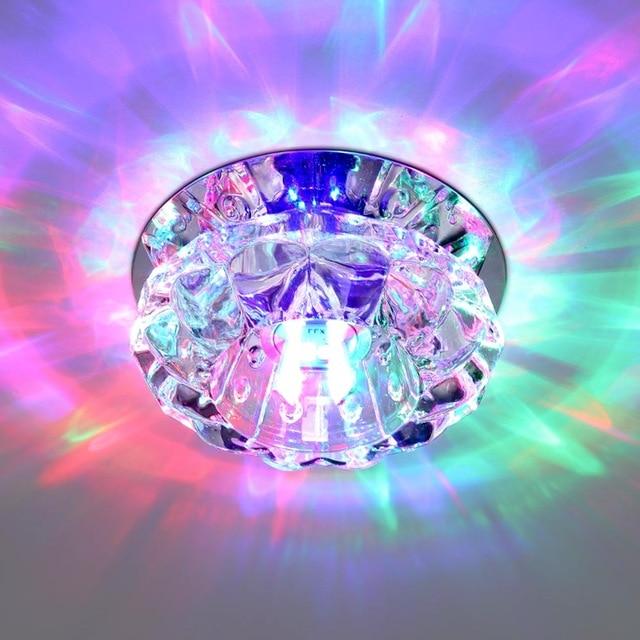 Новый Кристалл светодиодный Подпушка Light 3 Вт AC85-265V Spot Lampen Встраиваемые Потолочные стены прожектор Лампы для мотоциклов дома Ванная комната ...
