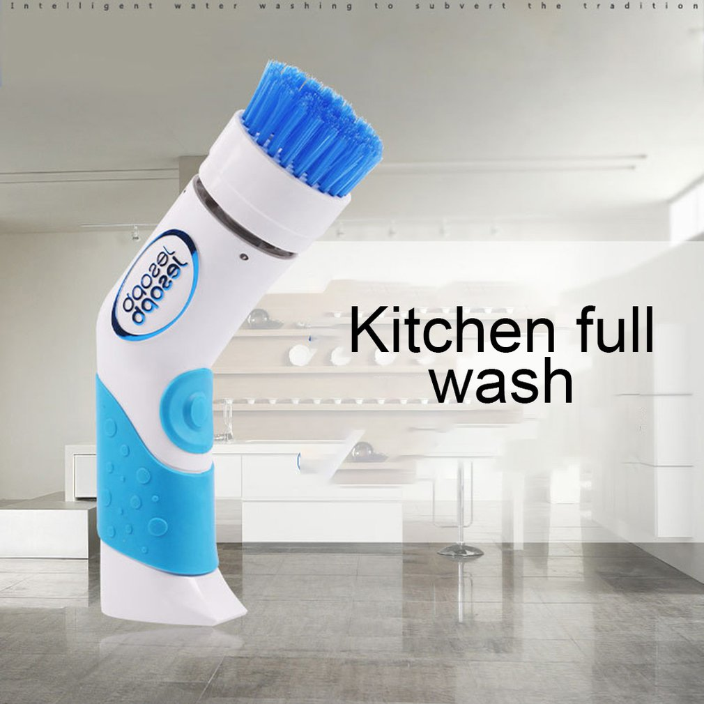 Handheld Electric Dishwasher Mini Dishes Washing Machine Kitchen Bowl Cleaning Dishwashing Bath Cleaner Replaceable Brush