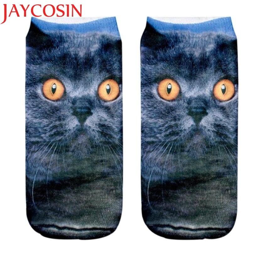 JAYCOSIN Coolbeener 3D Printed Animal Women Casual Socks Cute Cat Unisex Low Cut Ankle Socks dec28