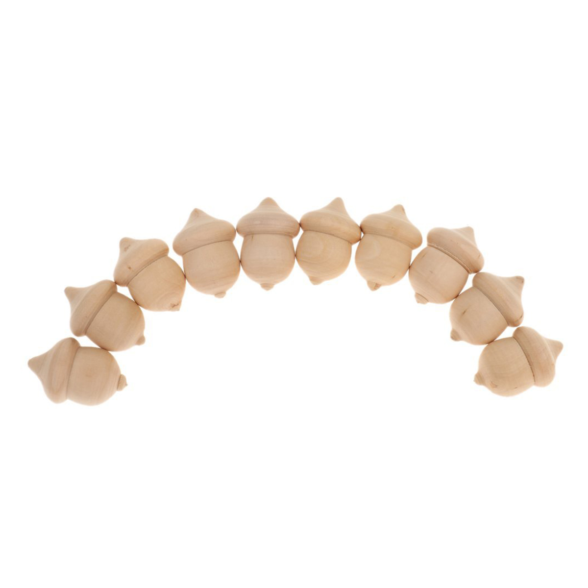 Us 302 10pcs Wooden Acorn Unfinished Wood Diy Supplies Painting Craft Wedding Party Ornaments Theme Activity Decorations In Wood Diy Crafts From