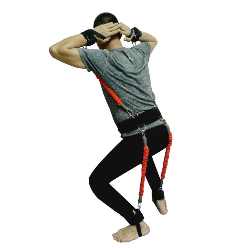 200lbs bandes de résistance boxe Fitness entraînement ceinture jambe force exercice pour 2019 ALS88 - 3