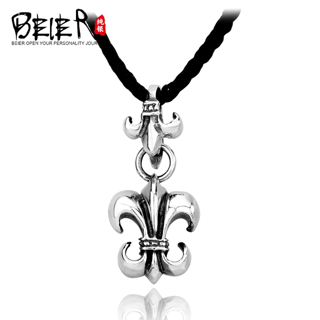 BEIER 925 silver pendants male fashion pendant cross pendant classic piece lily badge for man and woman A0390
