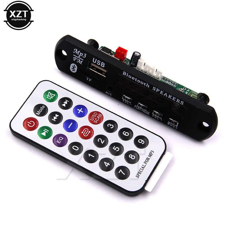 เดิมโมดูลเครื่องถอดรหัสเสียง MP3 เครื่องเล่นบลูทูธนำ MP3 WMA WAV ถอดรหัสเอฟเอ็มช่องรับสัญญาณเสียง 3.5 มิลลิเมตร 12 โวลต์ยูเอสบี TF เอฟเอ็ม