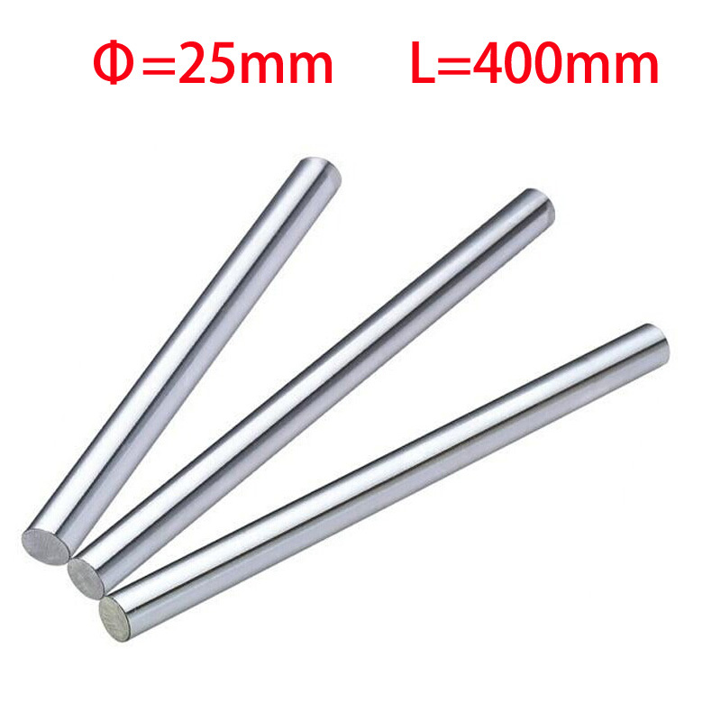 ФОТО 1pcs 25mm 25x400 linear shaft 3d printer 25x400mm cylinder linear rail linear shaft axis cnc part