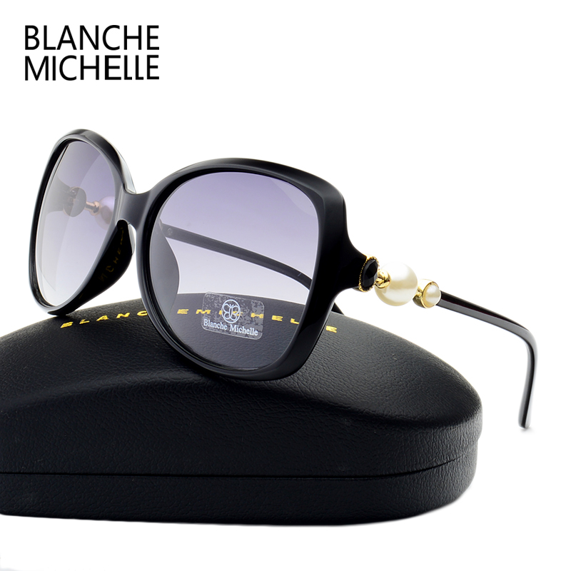 Fashion High Quality Butterfly Pearl Sunglasses Women Mirror Polarized UV400 Sun Glasses Brand Designer 2017 With Original Box 4