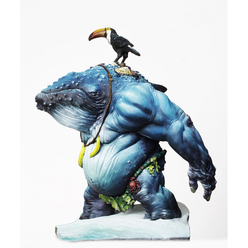 1/20 80mm Fantasy Whale And Bird    Toy Resin Model Miniature Kit Unassembly Unpainted