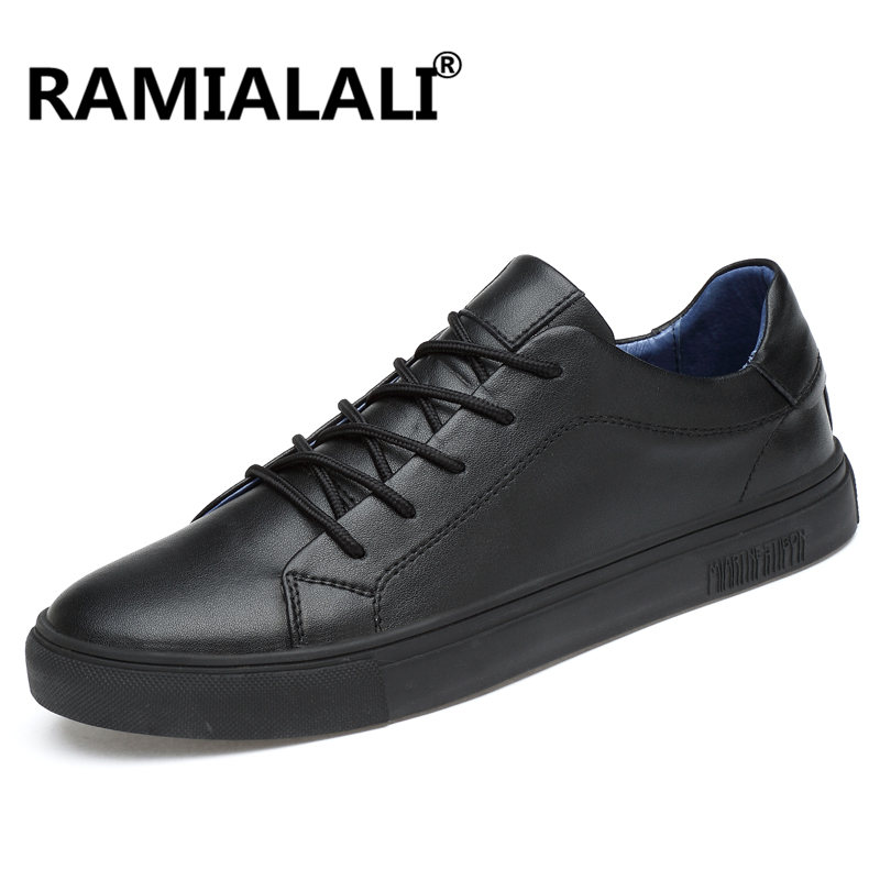 Ramialali Design Genuine Leather Men Shoes Leisure Comfortable Fashion Driving Shoes Mens Sneakers Chaussure Hommes