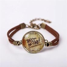 Браслет Гравити Фолз загадки вечерние часы Бог Доверие Нет один ювелирные изделия модный кожаный браслет подарок для женщин Мужская цепочка подвеска