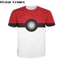 5300852b PLstar Cosmos 2017 summer New Funny Pokemon 3d t shirt Pokeball Deathstar  print T-Shirt harajuku casual Women/Men t shirt