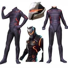 New Adult Kids Game Cosplay Costume Omega Oblivion Link Zentai Bodysuit Suit Jumpsuits Led Mask Halloween