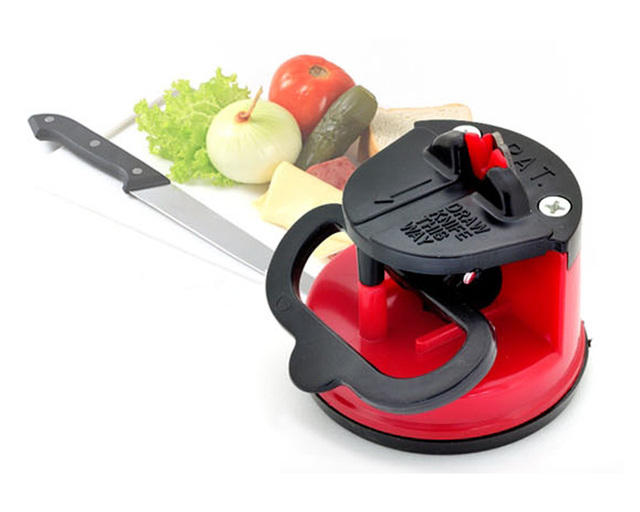 Steel Knife Sharpener with Suction pad Scissors Grinder Secure Suction Chef Pad Kitchen Sharpening Tool Free Shipping