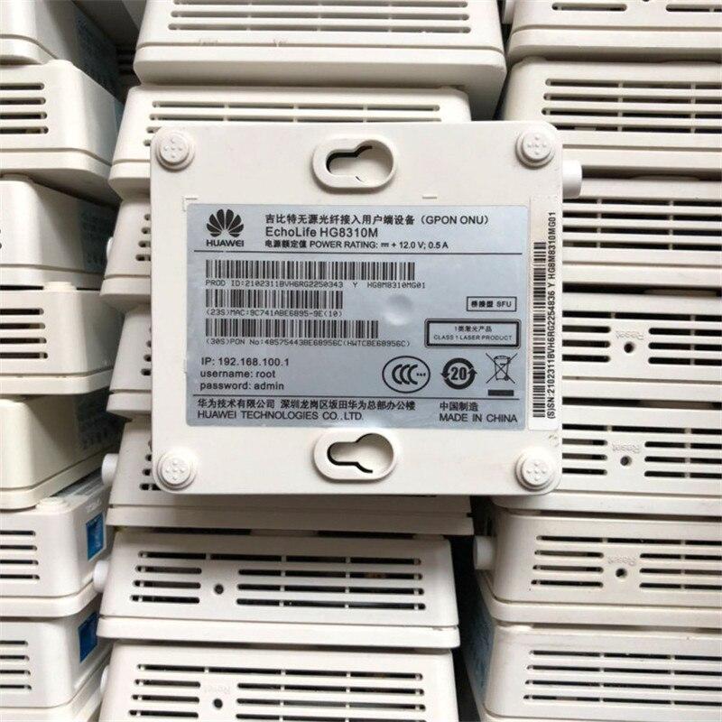 90% nouveau matériel utilisé 40 pièces Huawei Gpon Onu HG8310M ftth ont fibre optique utilisé routeur 1GE sans puissance et B - 6