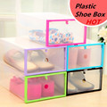 NEW Multifunction Plastic Shoe Box Transparent Crystal Storage Shoebox Household DIY clamshell shoebox Storage box