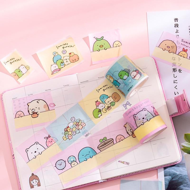 4.5cm Cute Bow Sumikko Gurashi Super Bullet Journal Washi Tape Adhesive Tape DIY Scrapbooking Sticker Label Masking