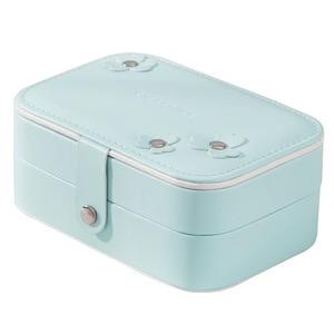 Image 5 - Caixa de jóias de viagem portátil de dupla camada de couro do plutônio expositor organizador caso de armazenamento para brincos colar anéis