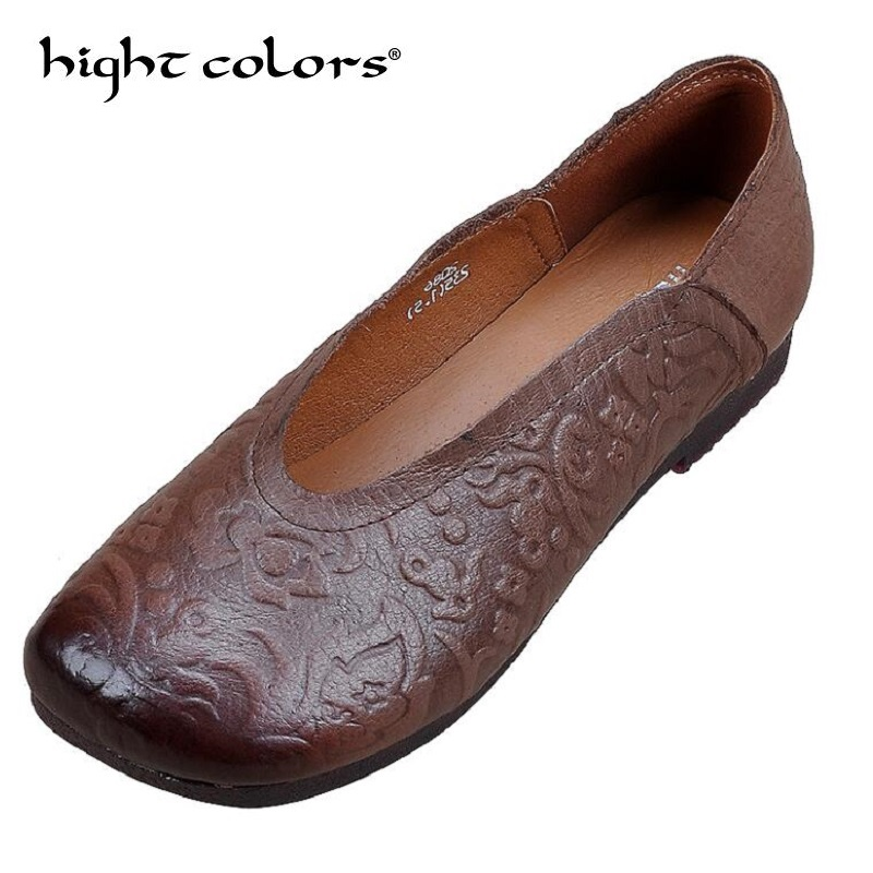 hight colors 2019 New Luxury Brand Loafers Shoes Women Genuine Leather Flat Shoes Slip On Square Heels Loafers H315hight colors 2019 New Luxury Brand Loafers Shoes Women Genuine Leather Flat Shoes Slip On Square Heels Loafers H315