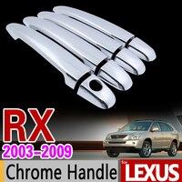 For Lexus RX 2003 2009 XU30 Chrome Handle Cover Trim Set RX300 RX350 RX400h Toyota Harrier