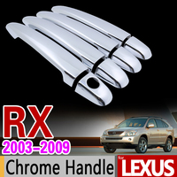 For Lexus RX 2003 2009 XU30 Chrome Handle Cover Trim Set RX300 RX350 RX400h Toyota Harrier
