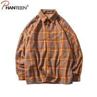 Men Shirt High Quality Turn Down Collar Long Sleeved Fashion Flannel Plaid Brand Clothing Casual Shirt