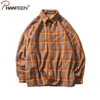 Men Shirt High Quality Turn Down Collar Long Sleeved Fashion Flannel Plaid Brand Clothing Casual Shirt Man