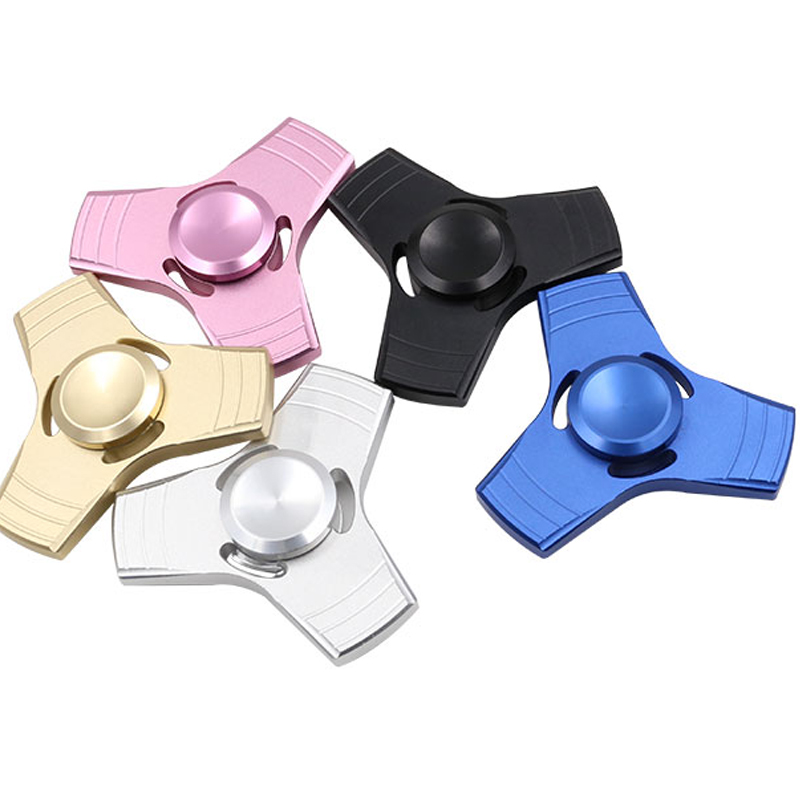 EMS DHL Drop Shipping 100pcs/Lot Fidget toy EDC Hand Spinner UFO Tri-spinner Zinc Fidget Spinner For ADHD Adults Children 120 200 1155036